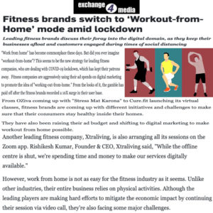 Digital workouts with Xtraliving